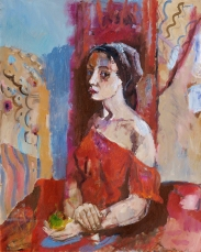 Model 100 80 oil on canvas