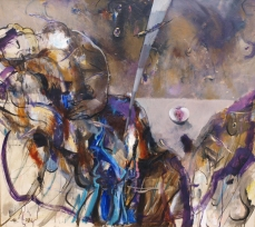 Two  110 125 oil on canvas